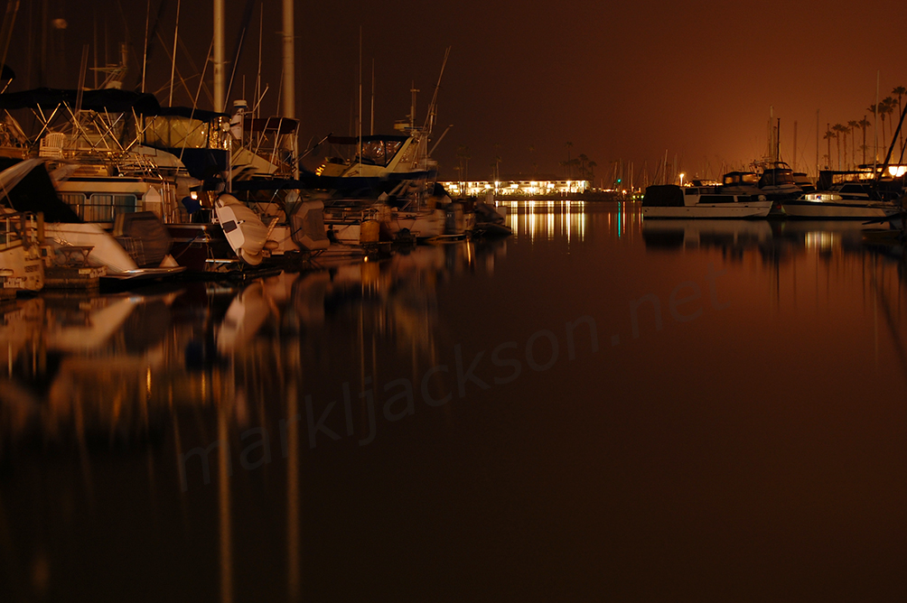 Oceanside Marina at Night